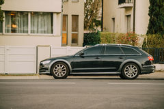 AUDI wagon car parked Stock Images