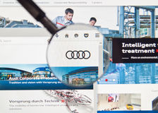 Audi web page Royalty Free Stock Photography