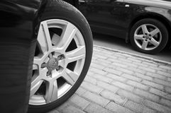 Audi Wheel Lizenzfreie Stockfotos