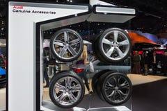 Audi Wheels su esposizione Fotografie Stock Libere da Diritti