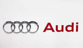 Audi Zeichen Lizenzfreie Stockfotos