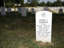 Audie Murphy marker Stock Image