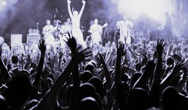 Audience. Large audience at a rock concert Stock Photography