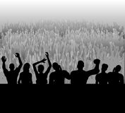 Audience. Illustration of a large audience or crowd cheering the stage Royalty Free Stock Images