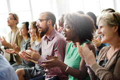 Audience Applaud Clapping Happines Appreciation Training Concept Royalty Free Stock Images