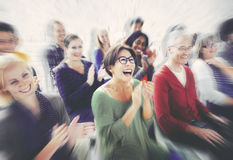 Audience Applaud Clapping Happines Appreciation Training Concept Royalty Free Stock Photography