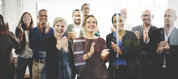 Audience Applaud Clapping Happiness Appreciation Training Concept.  stock image