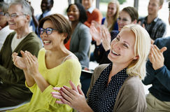 Audience Applaud Clapping Happiness Appreciation Training Concept. Audience Applaud Clapping Happiness Appreciation Stock Photo