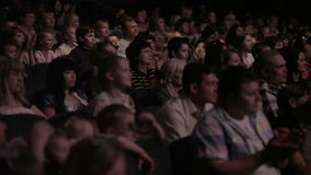 Audience applauded in the theater. stock video footage