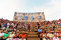 Audience in the Arena di Verona, Italy Stock Photos