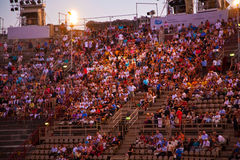 Audience in the Arena di Verona, Italy Stock Photo