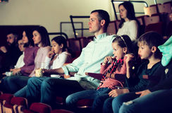 Audience attending movie night for comedy Royalty Free Stock Photo