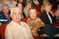 The audience and the audience are retired, elderly world war II veterans and their relatives. Royalty Free Stock Image