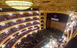 Audience at Beethoven Concert in The Gran Teatre del Liceu Royalty Free Stock Image