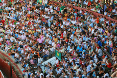 The audience of the bullfighting area in Huelva Royalty Free Stock Photo
