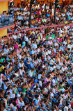 The audience of the bullfighting area in spain Stock Image