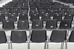 Audience chairs Royalty Free Stock Photos