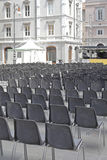 Audience Chairs Outdoor Royalty Free Stock Image