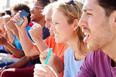 Audience Cheering At Outdoor Concert Performance Royalty Free Stock Photography