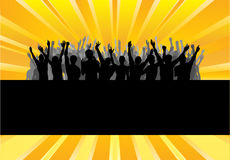 Audience Cheering Success Royalty Free Stock Photography