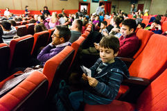 Audience in cinema Stock Photo