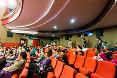 Audience in cinema Royalty Free Stock Photography