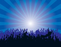 Audience At A Concert Royalty Free Stock Image