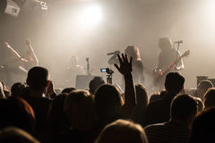 Audience at concert at nightclub Stock Photography