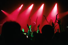 Audience at a concert at a nightclub Stock Photos