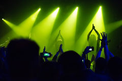 Audience at concert at nightclub Royalty Free Stock Images