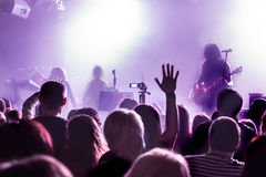 Audience at concert at nightclub Stock Photos