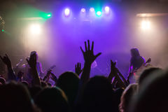 Audience at concert at nightclub Royalty Free Stock Photos
