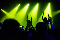 Audience at concert at nightclub Stock Image