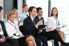 Audience at conference royalty free stock image