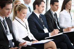Audience at conference stock image