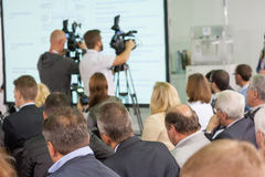 Audience at the conference Royalty Free Stock Image