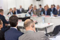 Audience at the conference Royalty Free Stock Photo