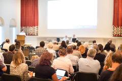 Audience at the conference hall. Royalty Free Stock Images