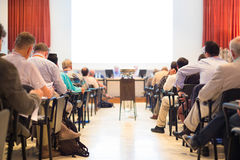 Audience at the conference hall. Royalty Free Stock Photos
