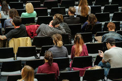 Audience at a conference Royalty Free Stock Images