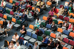 Audience at a conference Stock Photo