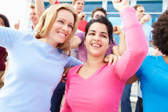 Audience Dancing At Outdoor Concert Performance Royalty Free Stock Photos
