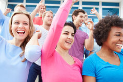 Audience Dancing At Outdoor Concert Performance Stock Image