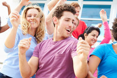 Audience Dancing At Outdoor Concert Performance Royalty Free Stock Images