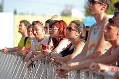 Audience in a daylight concert at FIB Festival Royalty Free Stock Photo