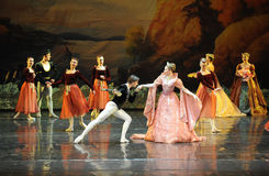 Audience with the empress-ballet Swan Lake Stock Image