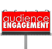 Audience Engagment Billboard Advertising Customers Outreach Stock Photos