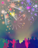 Audience-event-illustration Royalty Free Stock Image