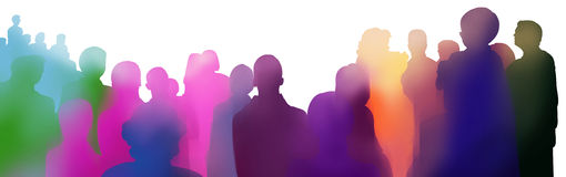 Audience event illustration Royalty Free Stock Photo