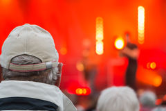Audience during a free concert. Brem sur Mer, France - July 12, 2016 : audience during a free concert of the group Ndiaz offered by the city for the summer royalty free stock photos